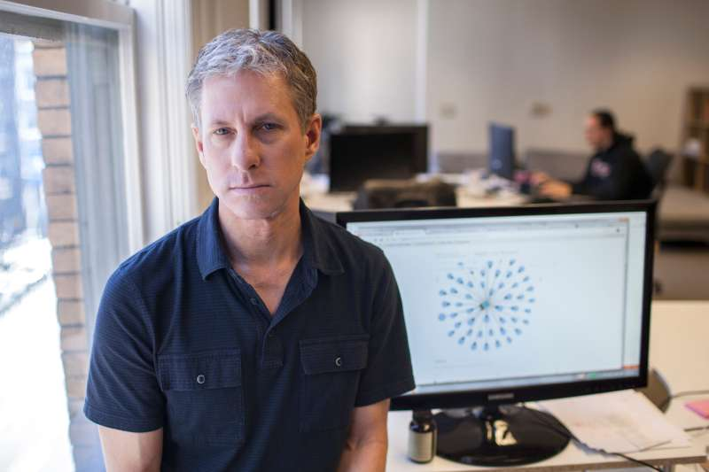 Chris Larsen, chief executive of Ripple Labs, that makes a math-based currency, at company headquarters in San Francisco.