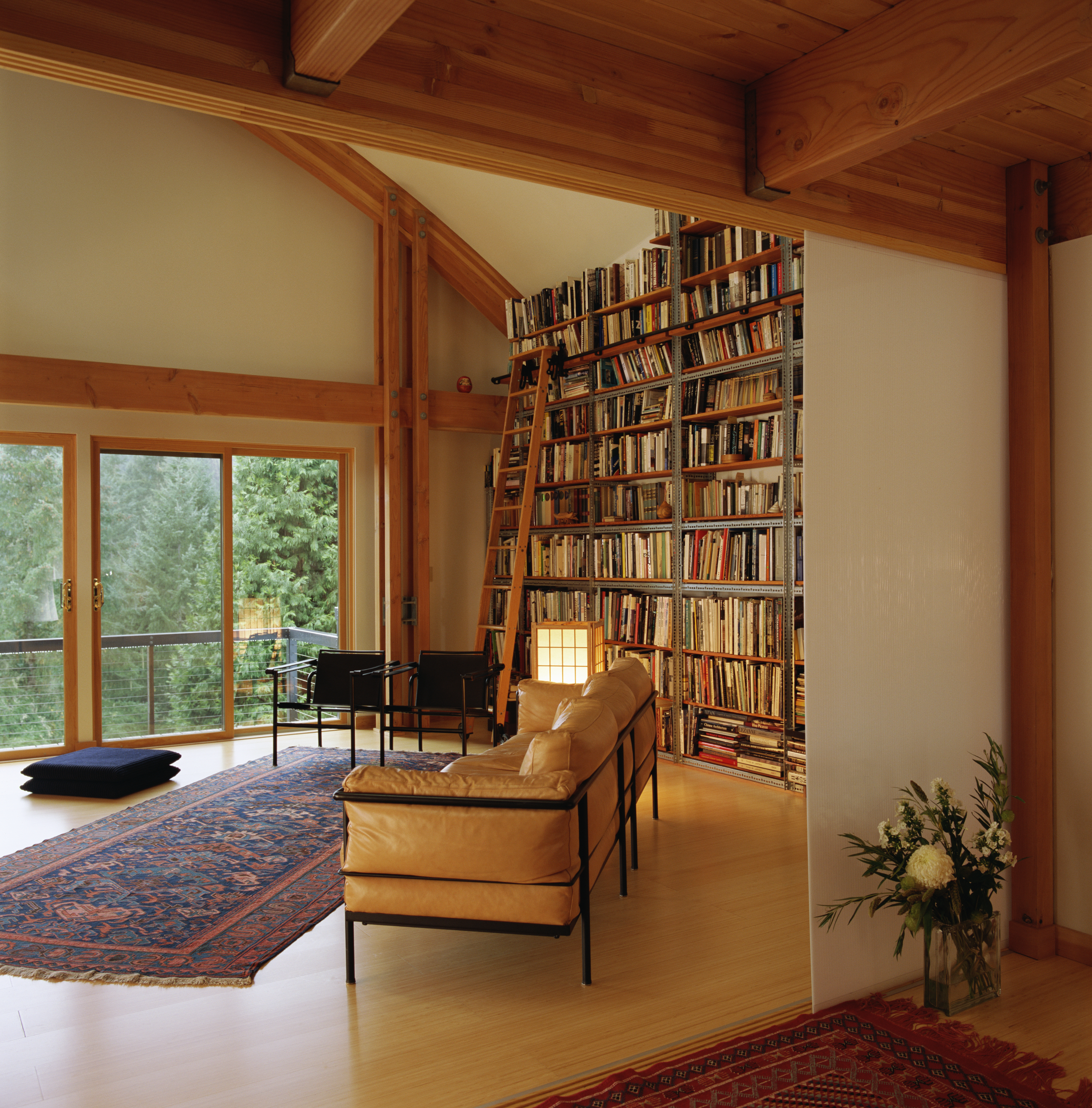A residential library with cool contemporary style