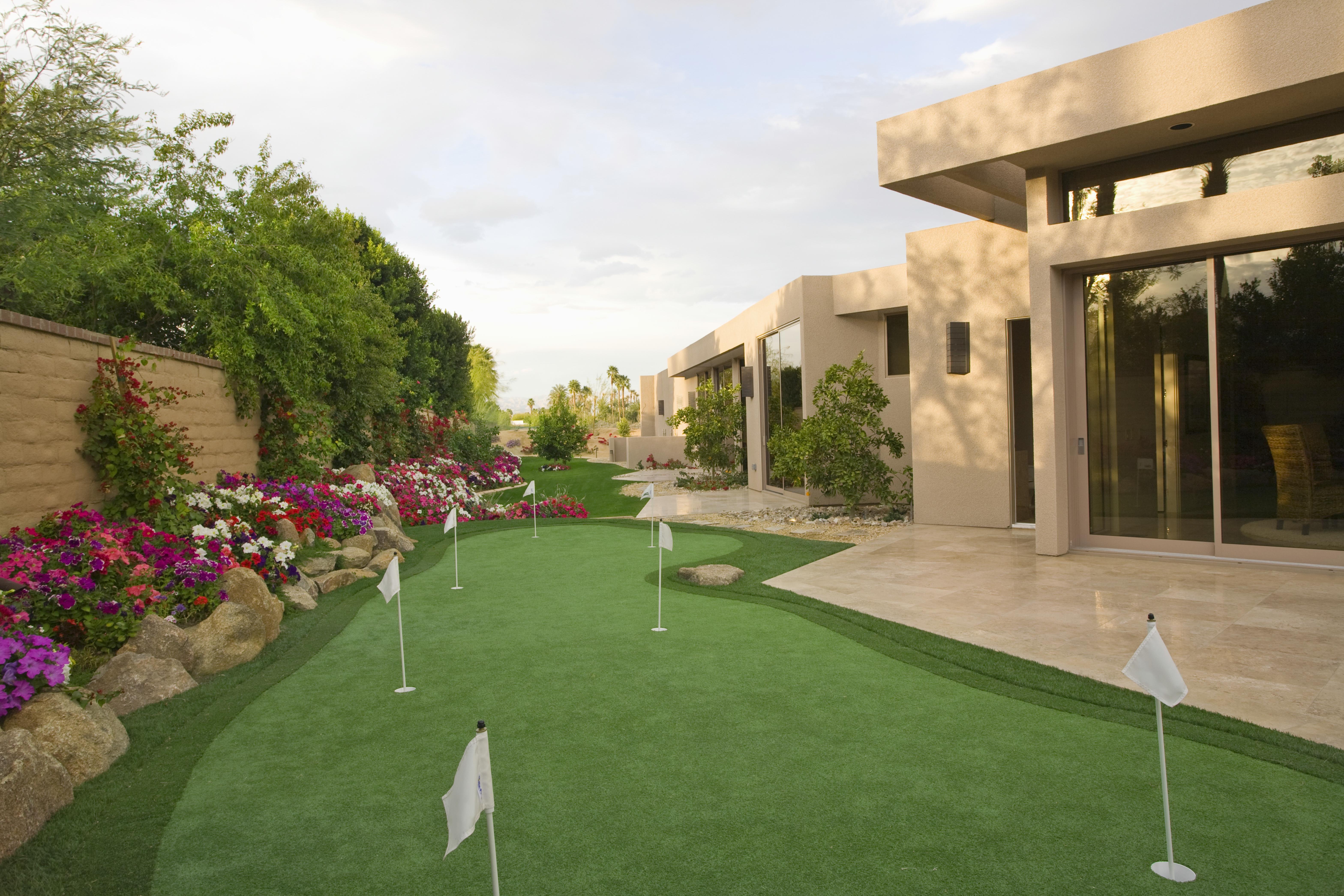 Mini Golf Course In House Garden
