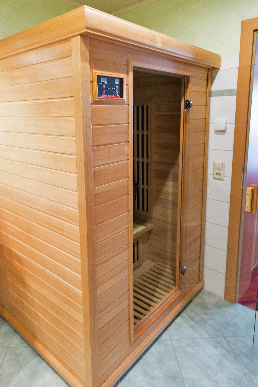 wooden infrared sauna