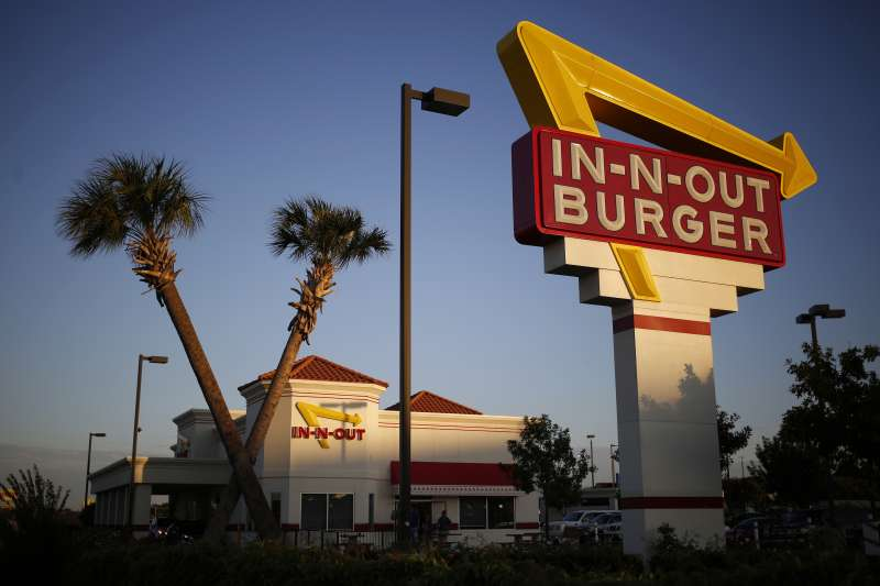 An In-N-Out Burger Restaurant Location As Vegetarians Petition For More Option
