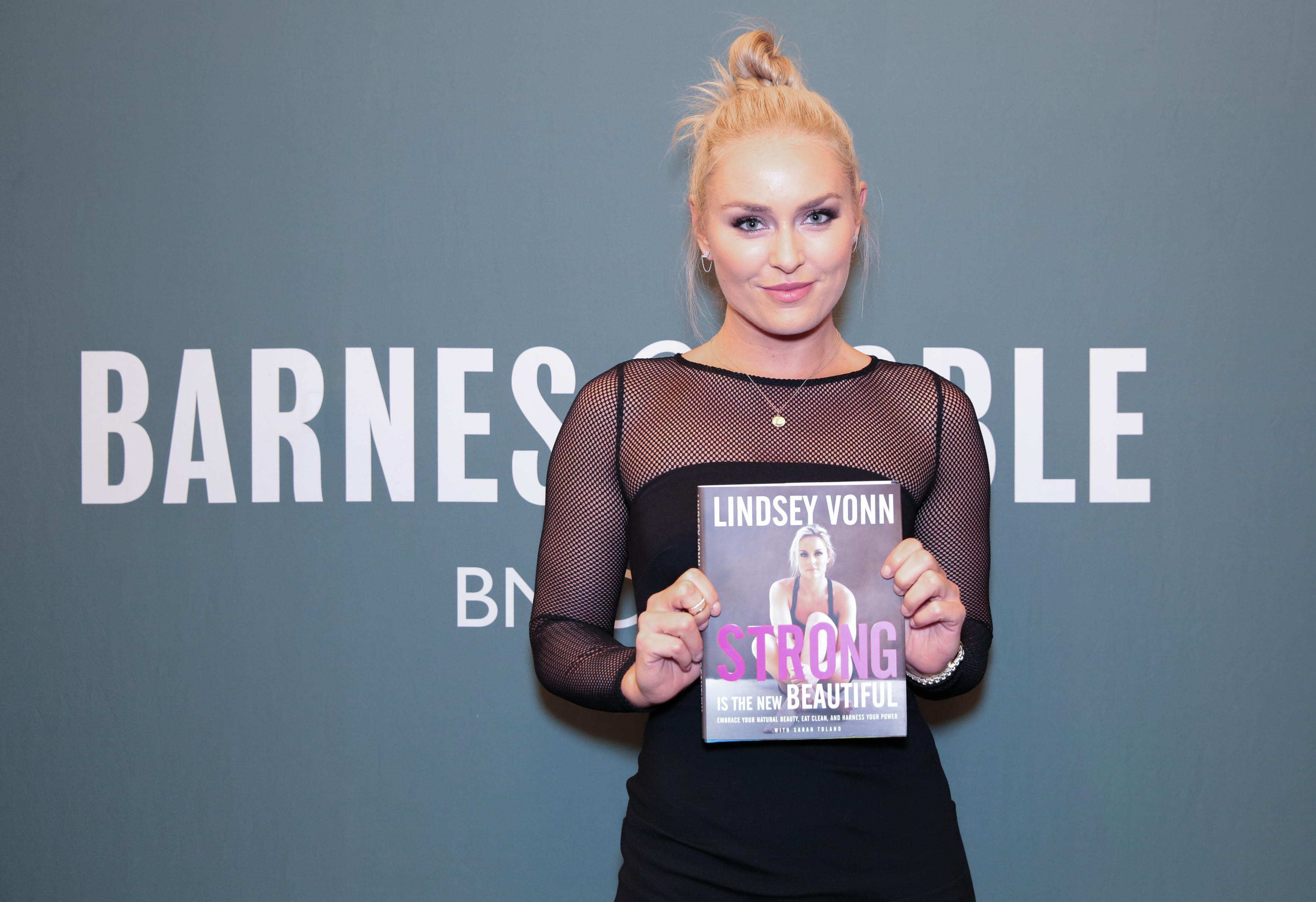 "Lindsey Vonn signs copies of her new book ""Strong Is The New Beautiful: Embrace Your Natural Beauty, Eat Clean, and Harness Your Power"""