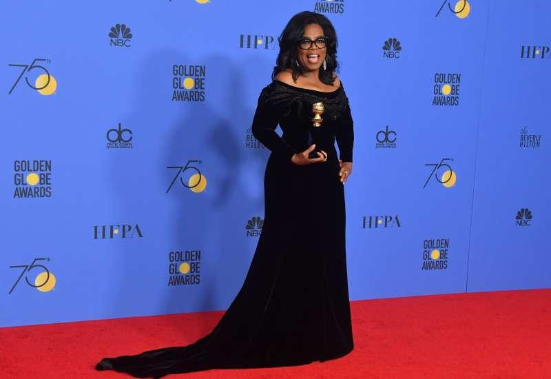 Oprah Winfrey at the 2018 Golden Globes