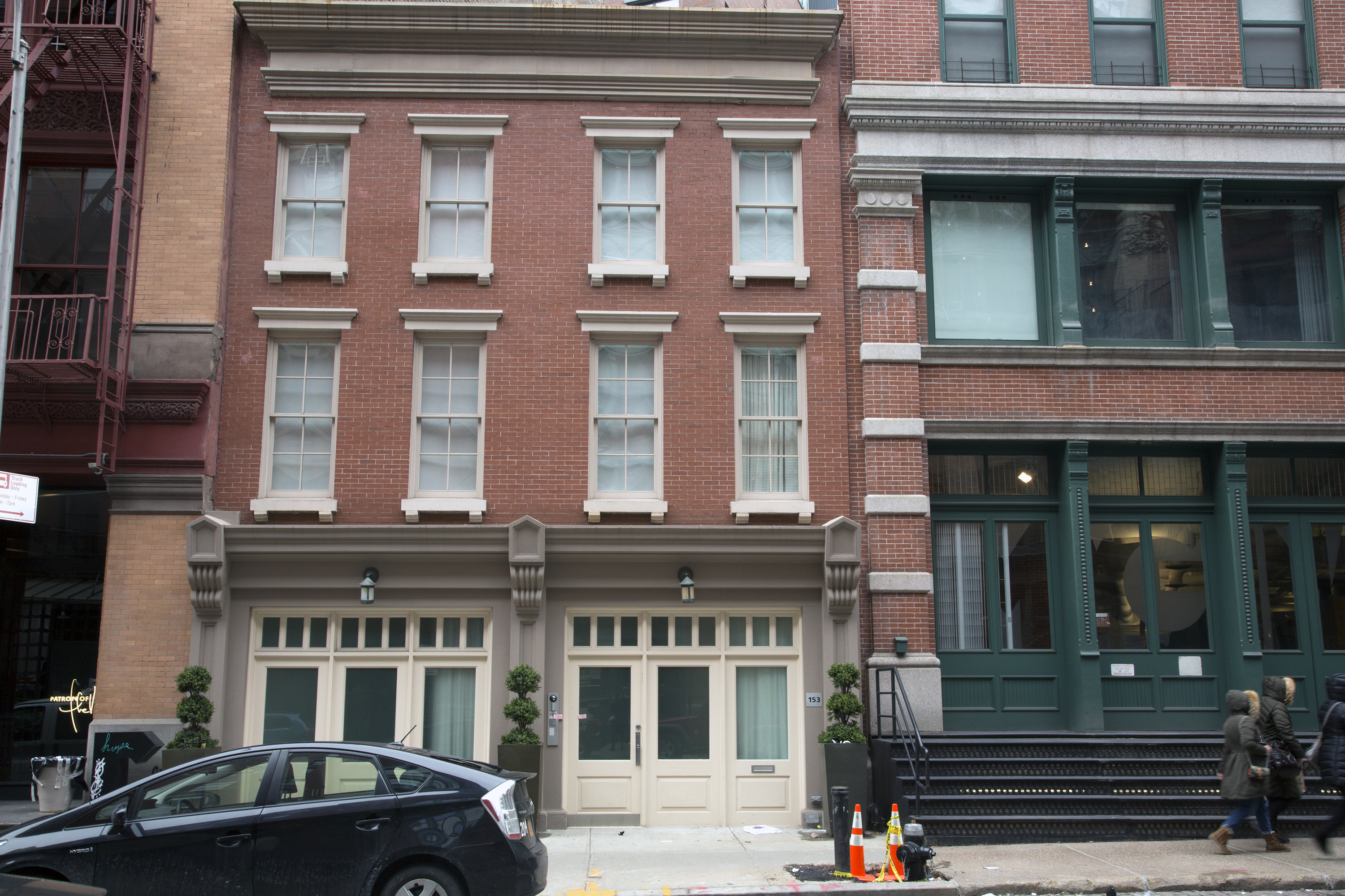 Two buildings in which Taylor Swift owns property on Franklin Street in Manhattan's Tribeca neighborhood. Swift owns several apartments in 155 Franklin St., right, and the three-story townhouse at 153 Franklin St. next door.