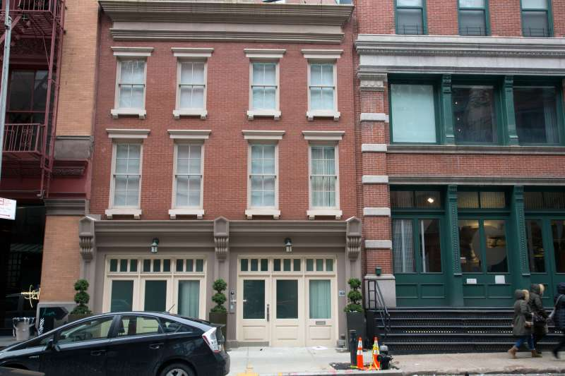 Two buildings in which Taylor Swift owns property on Franklin Street in Manhattan's Tribeca neighborhood.