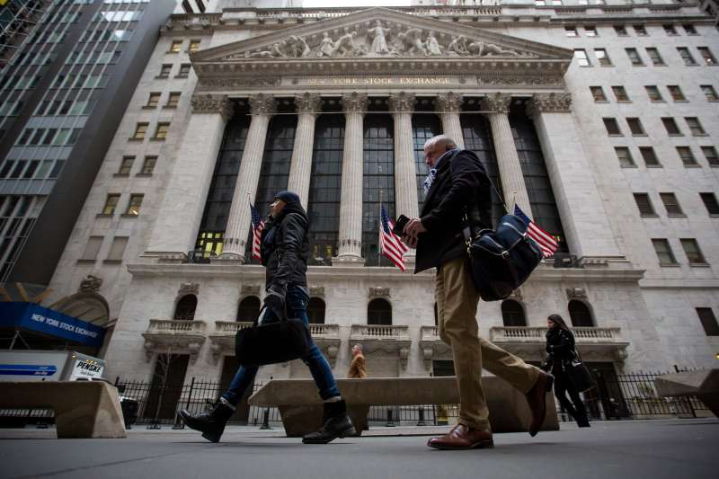 Trading On The Floor Of The NYSE As U.S. Stock Rout Cools
