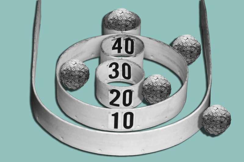 Skeeball with money balls