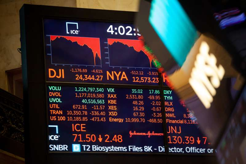 U.S. Stocks Plunge Heading Into Market Close