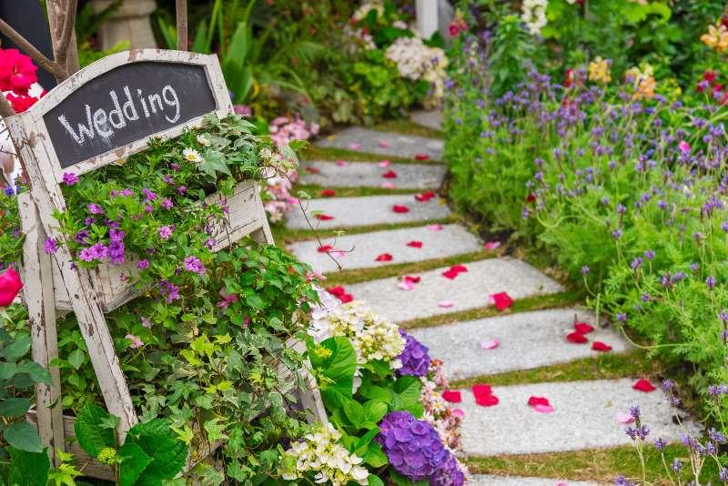 wedding banquet in garden