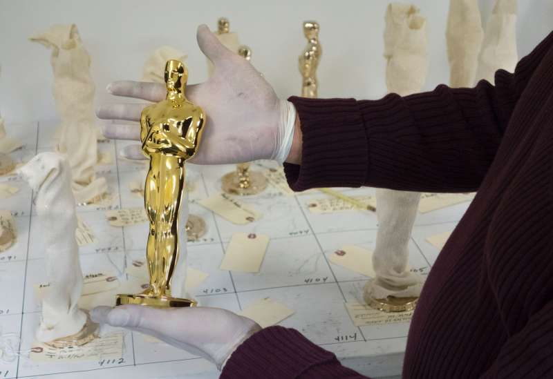Oscar statue plated in gold