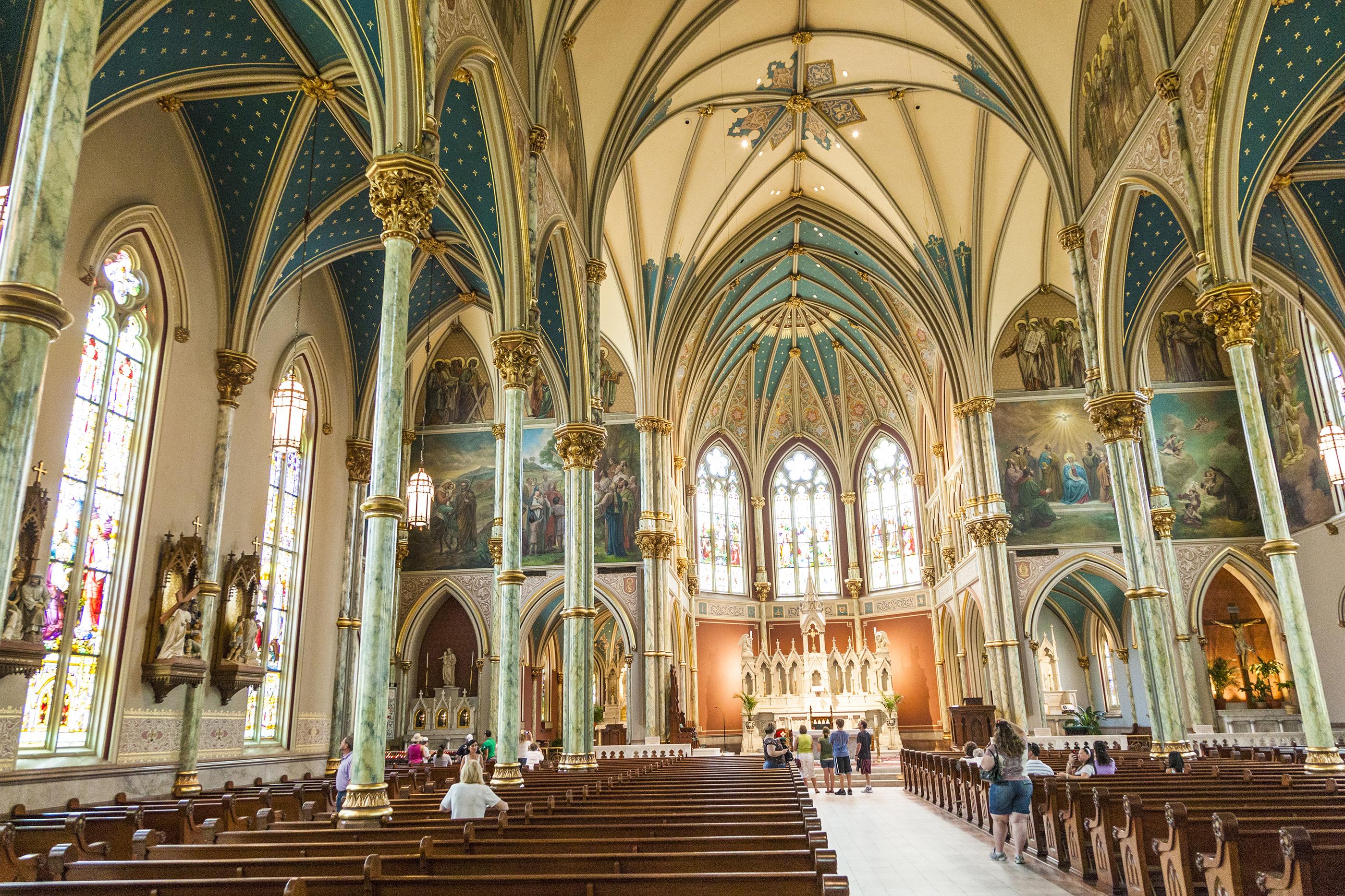 people visit church St. John the Baptist in Savannah