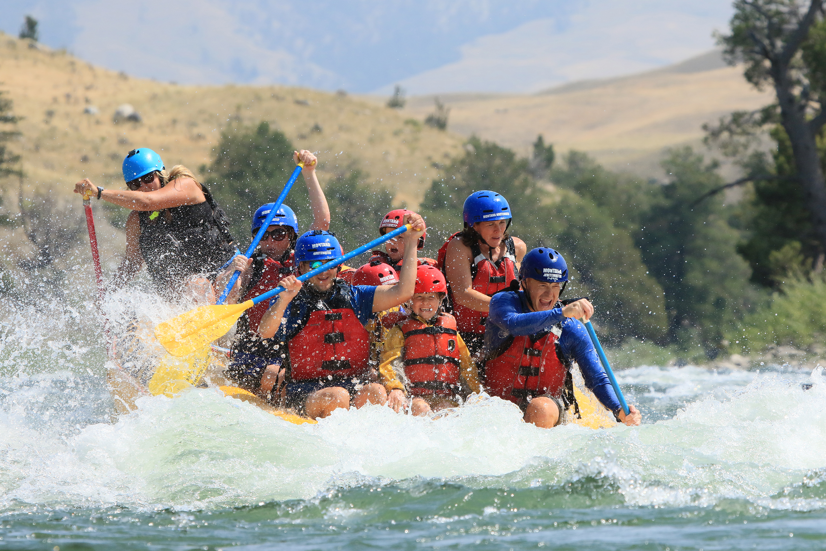 Montana Whitewater half-day whitewater rafting trip on the Yellowstone River