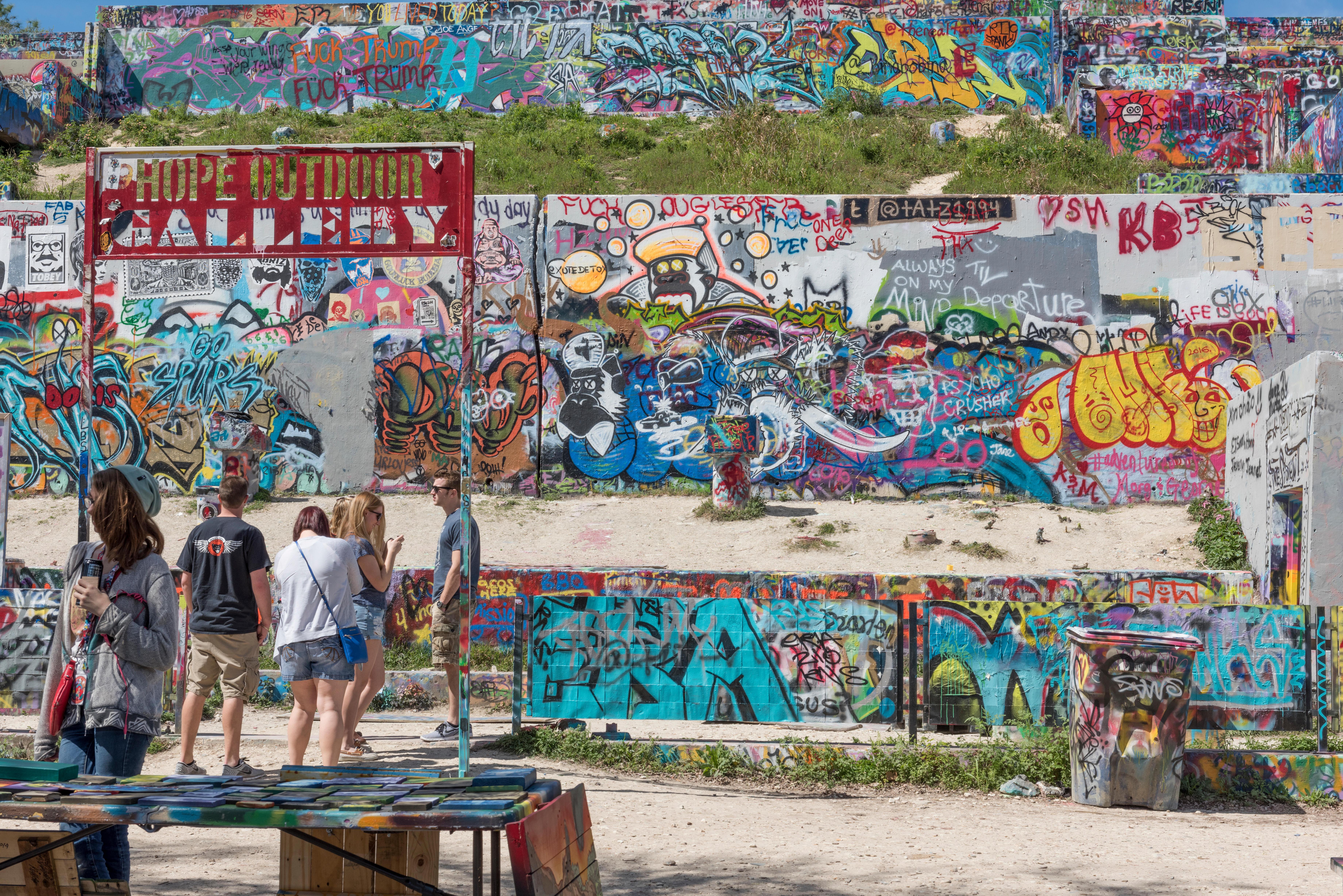 Austin Graffiti Park, Castle Hill, Austin, Texas, USA