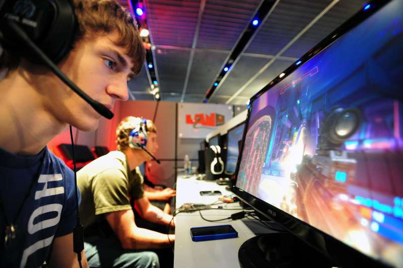 June 24, 2011 - Manhattan, New York, U.S. - Team Kiaeneto member Tyler ''Ninja'' Blevins practices at the Red Bull LAN professional video gaming performance camp in SoHo, where three of North America's top performing HALO teams are training this weekend.