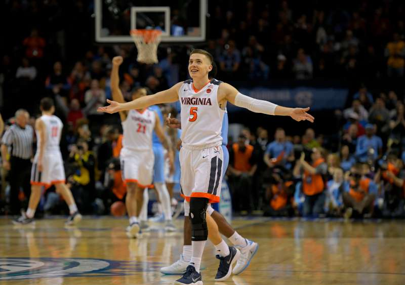 University of Virginia and North Carolina in the finals of the ACC mens basketball tournament