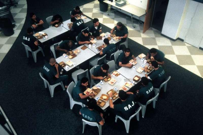 Inmates eating lunch, Santa Ana, CA