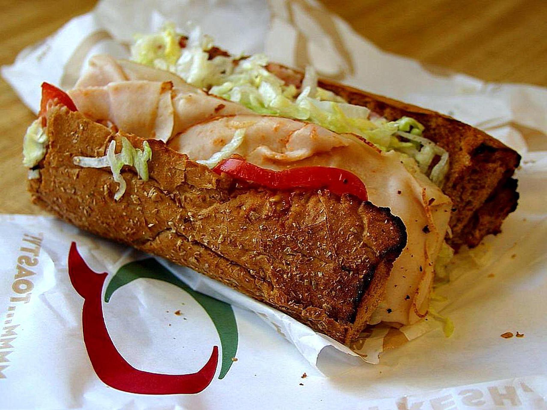 Quiznos sub sandwich