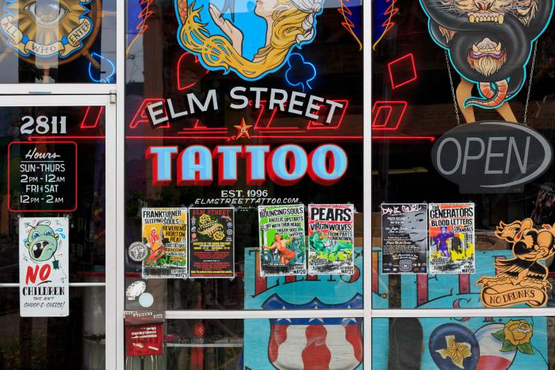 Elm Street Tattoo in Dallas, Texas.