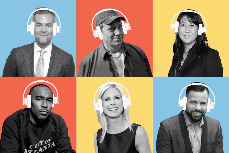 (clockwise from top left) Ryan Serhant, Mike Rowe, Sung Poblete, Kyle Bailey, Marla Beck; Donald Albright
