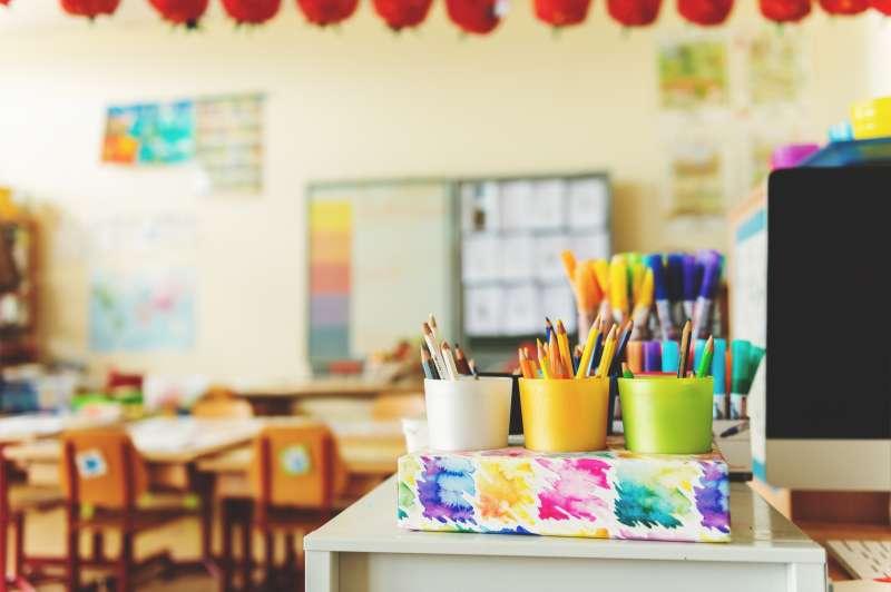 art supplies classroom