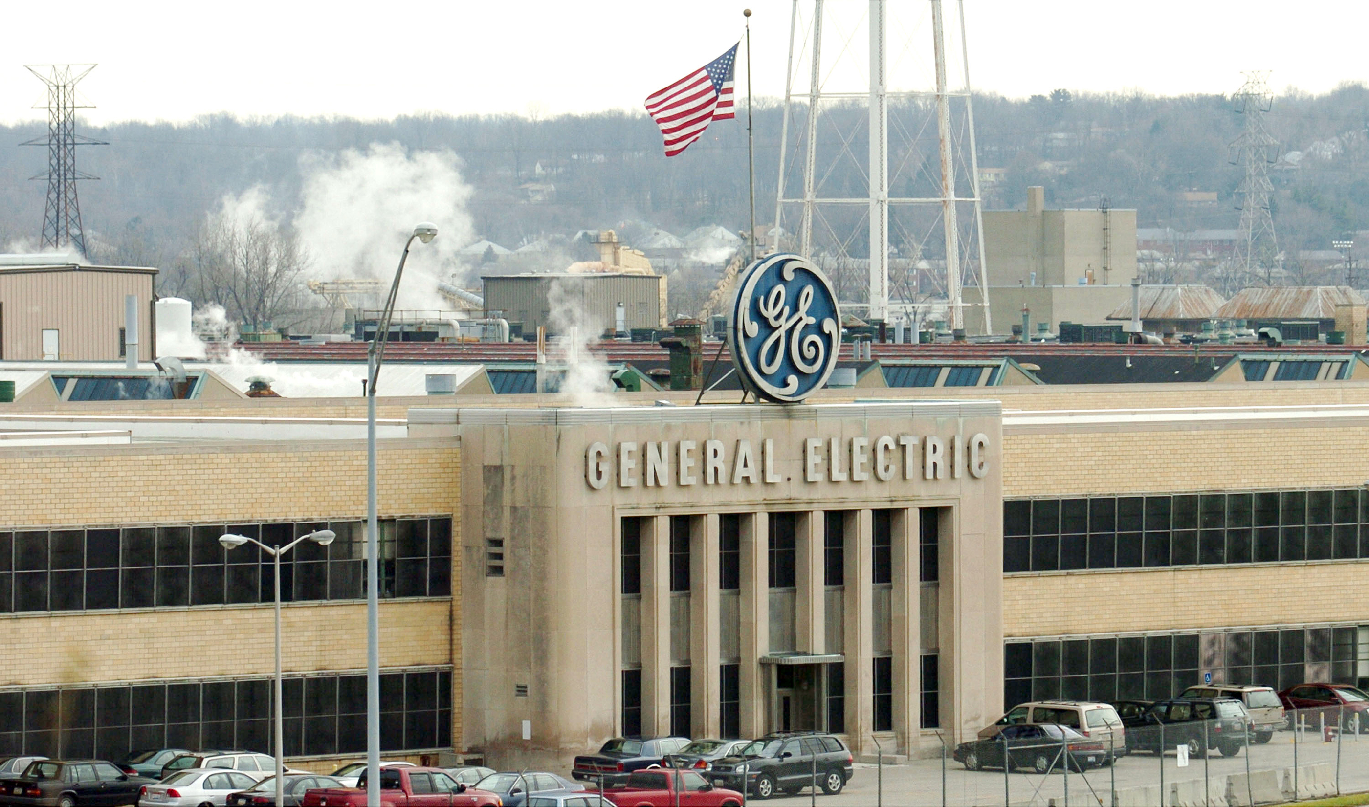 An exterior view of the General Electric Jet Engine Plant is shown December 8, 2003 in Cincinnati, Ohio.