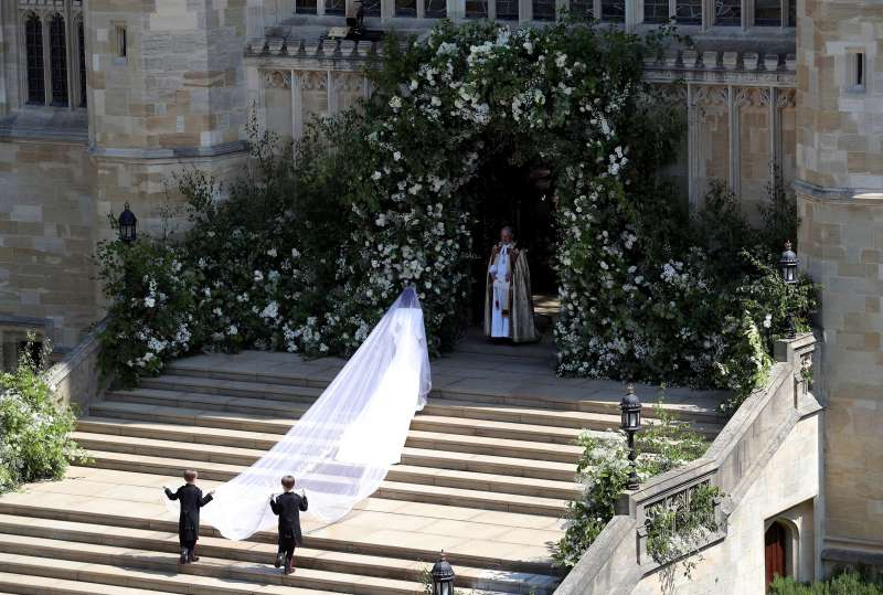 A look at the back of Meghan Markle's wedding dress