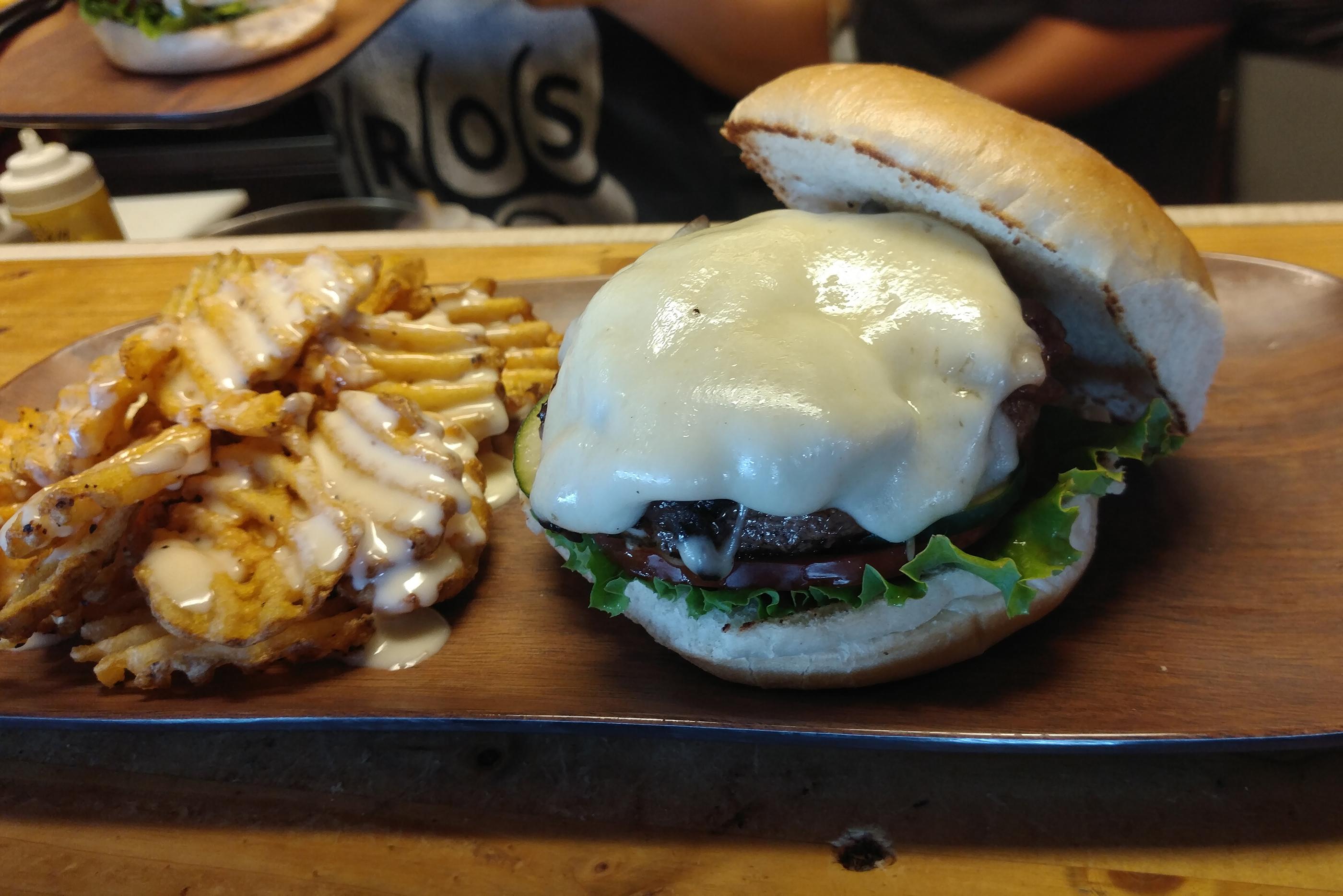 Frenchy Bro Burger at Bros Sandwich Shack