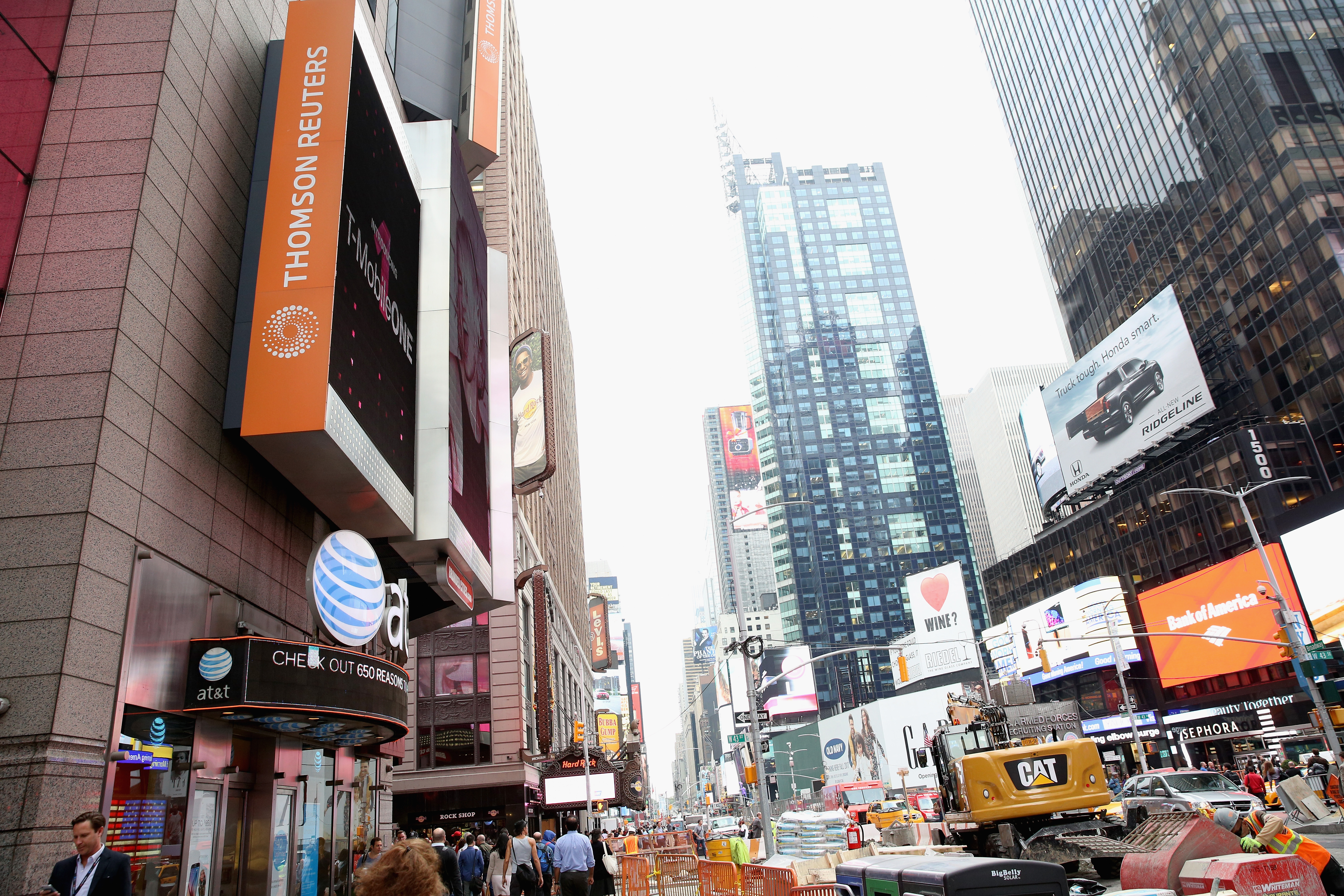 A view outside at Thomson Reuters during 2016 Advertising Week New York on September 28, 2016 in New York City.