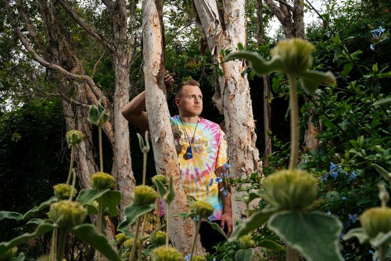 Spencer Pratt at his home in the Pacific Palisades neighborhood of Los Angeles, California on Friday, June 22, 2018.