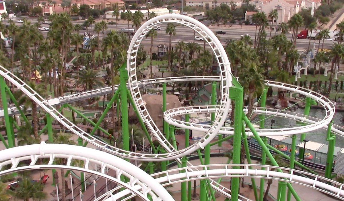 Desert Storm roller coaster at Castles N' Coasters
