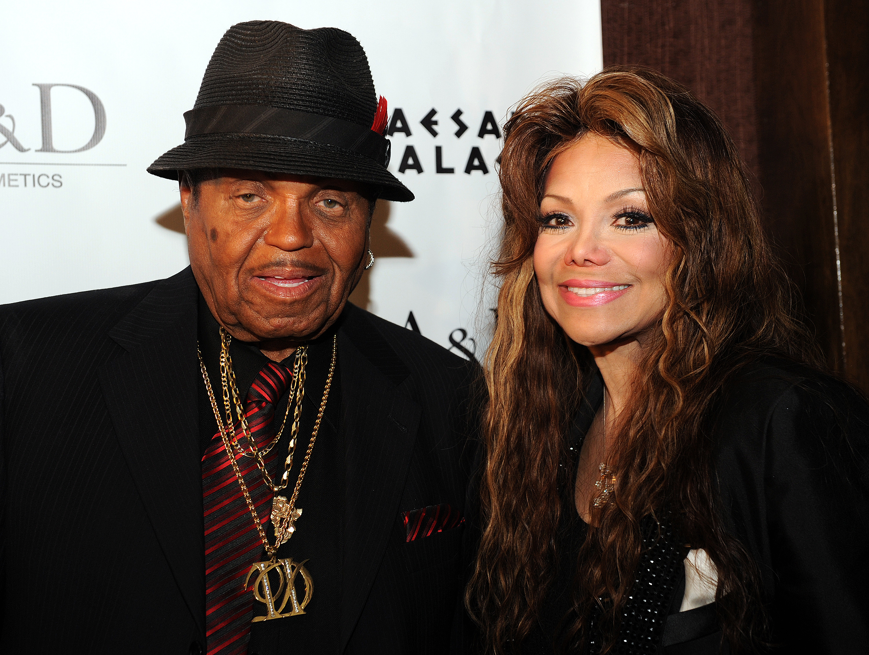 Joe Jackson and his daughter La Toya Jac