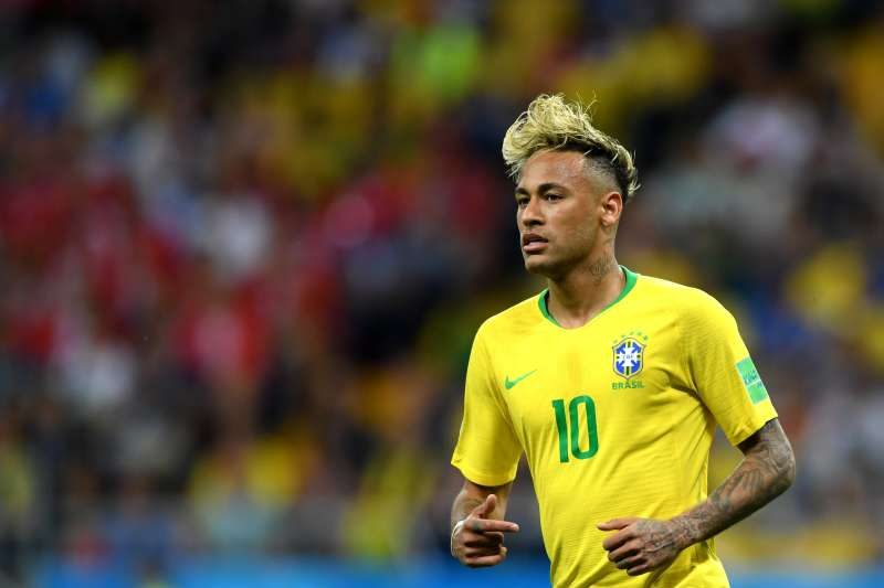 Neymar Jr playing in 2018 FIFA World Cup