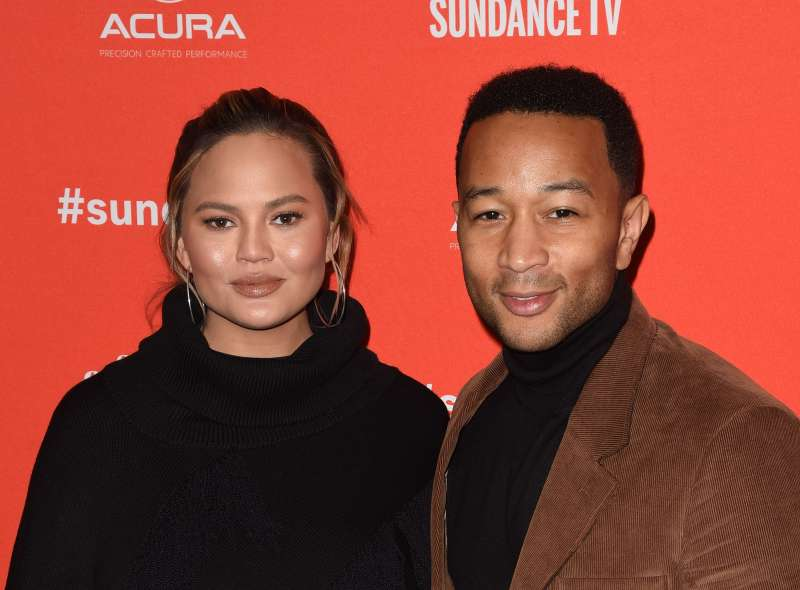 Chrissy Teigen and John Legend at 2018 Sundance