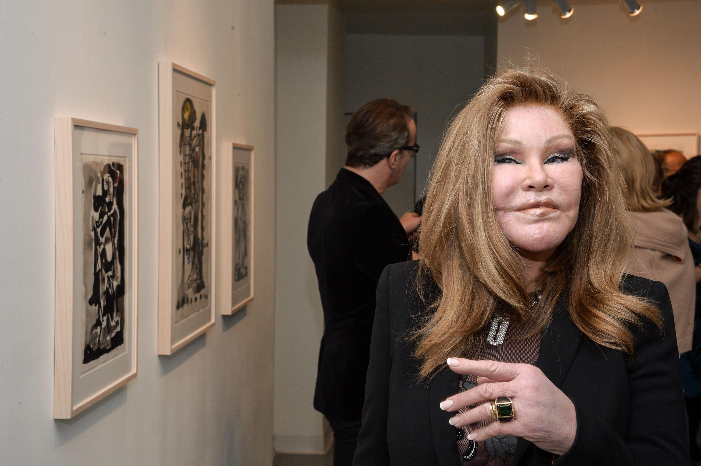 Jocelyne Wildenstein Visits The Jean-Yves Klein : Chimeras Exhibition