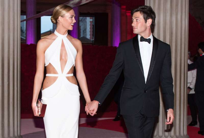 Karlie Kloss and Joshua Kushner at The Metropolitan Museum of Art's Costume Institute Benefit at the The Metropolitan Museum of Art in New York, NY, on May 2, 2016.