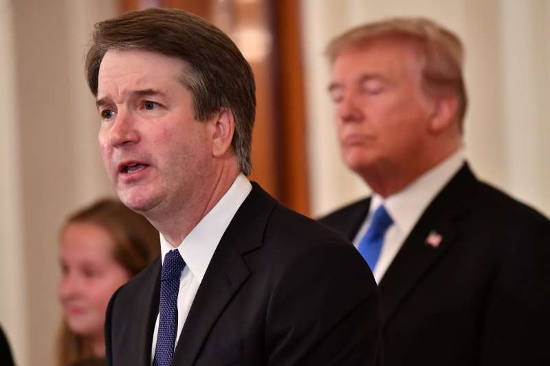 Supreme Court nominee Brett Kavanaugh at nomination annoucement