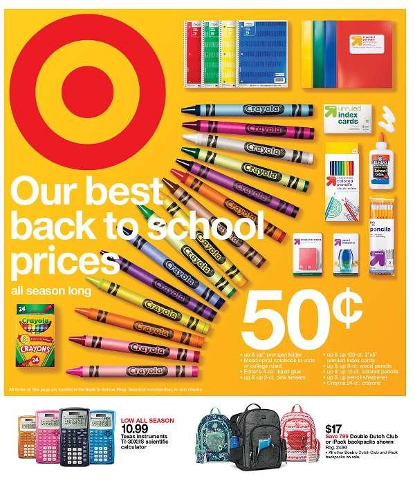 A Target advertising flier.