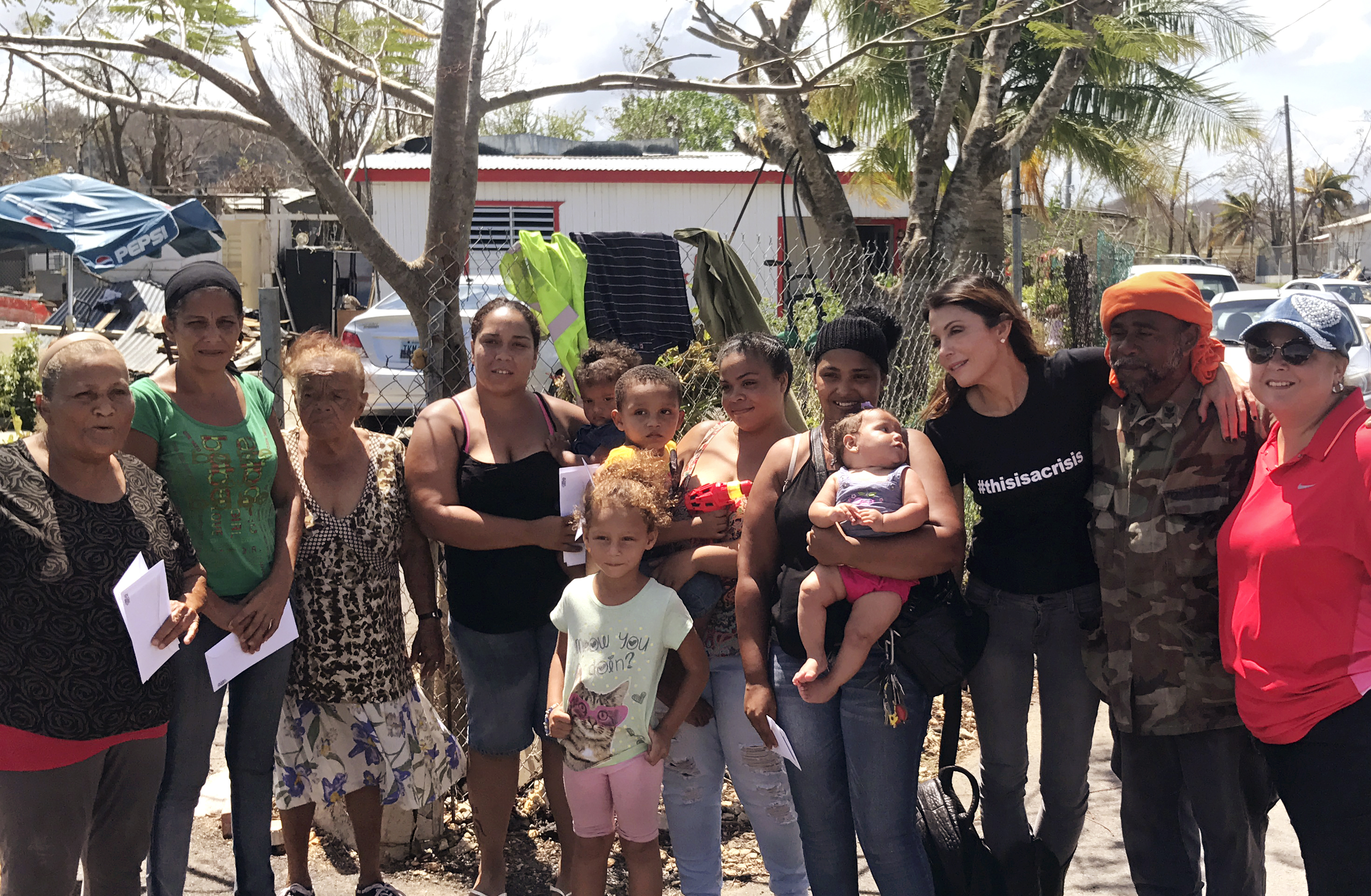 Frankel in 2017 in Puerto Rico, where she has spearheaded relief efforts through her charity