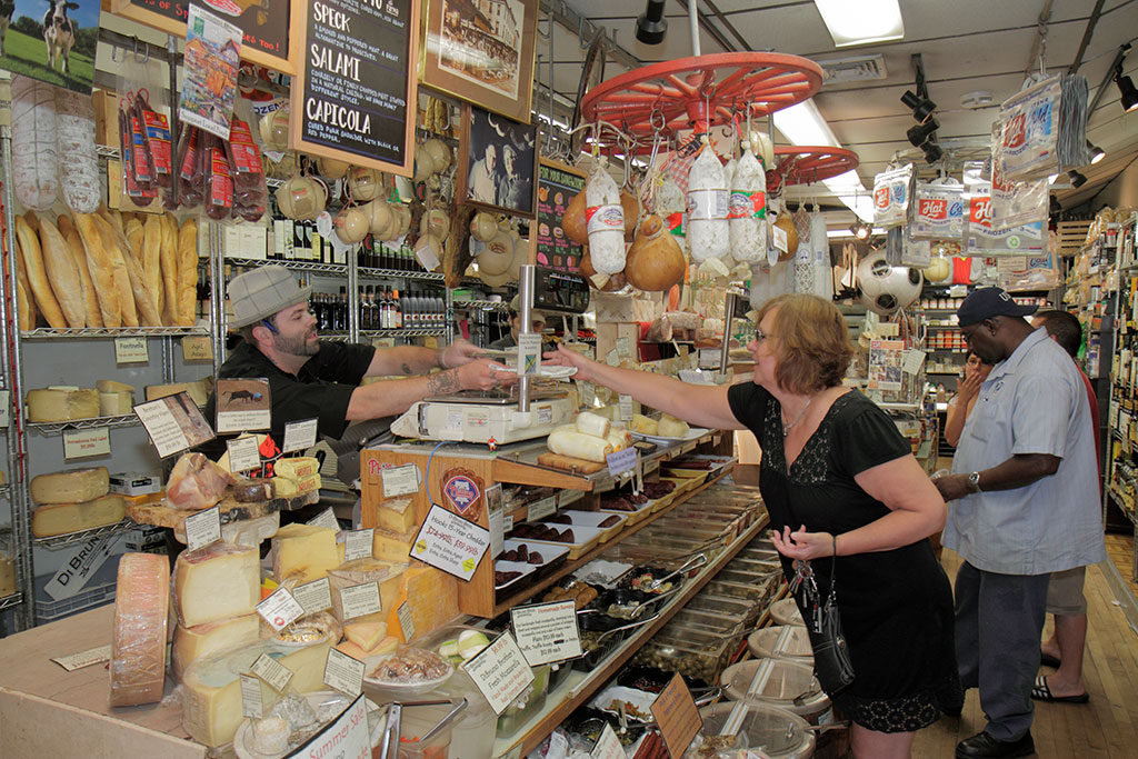 DiBruno Brothers, gourmet cheese at an Italian Market on South 9th Street.