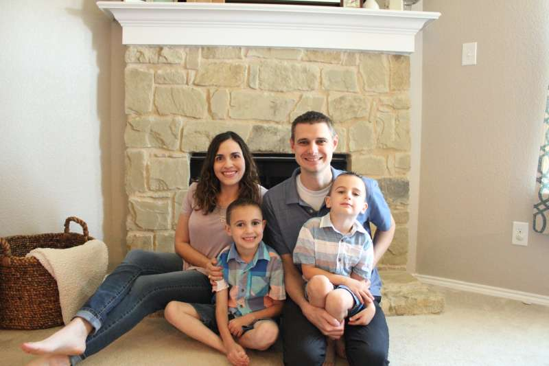 Allison Baggerly and her family