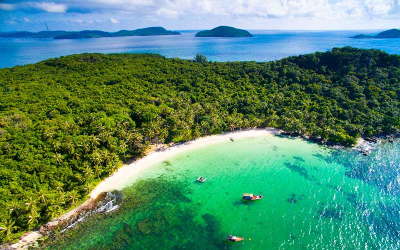 Phu Quoc island from above
