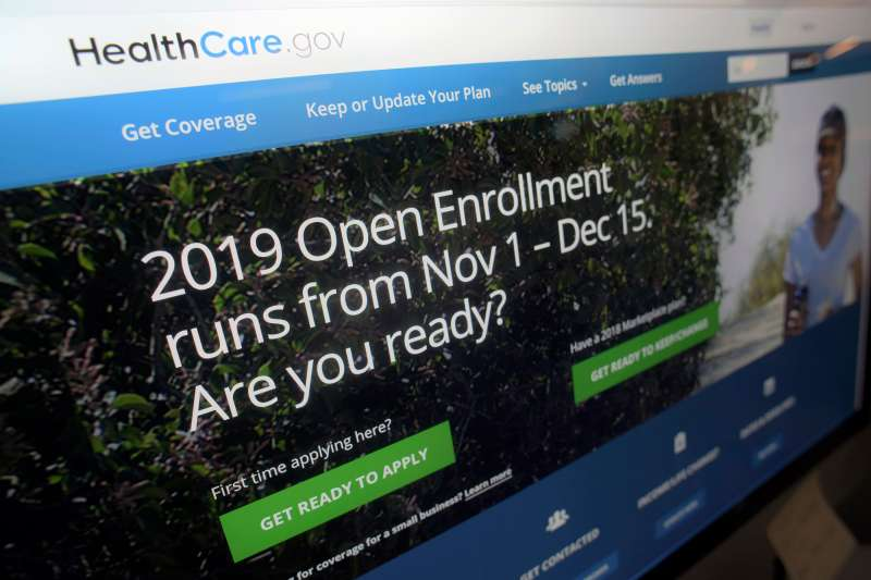 This photo shows HealthCare.gov website on a computer screen in New York. The sign-up period for next year's individual health insurance coverage runs from Nov. 1 to Dec. 15.