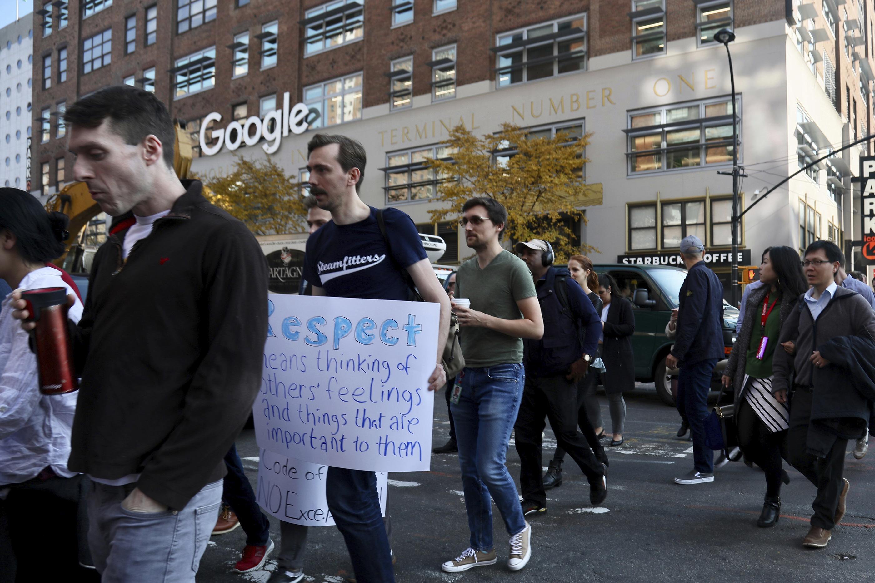 Google Walkout, New York, USA - 01 Nov 2018