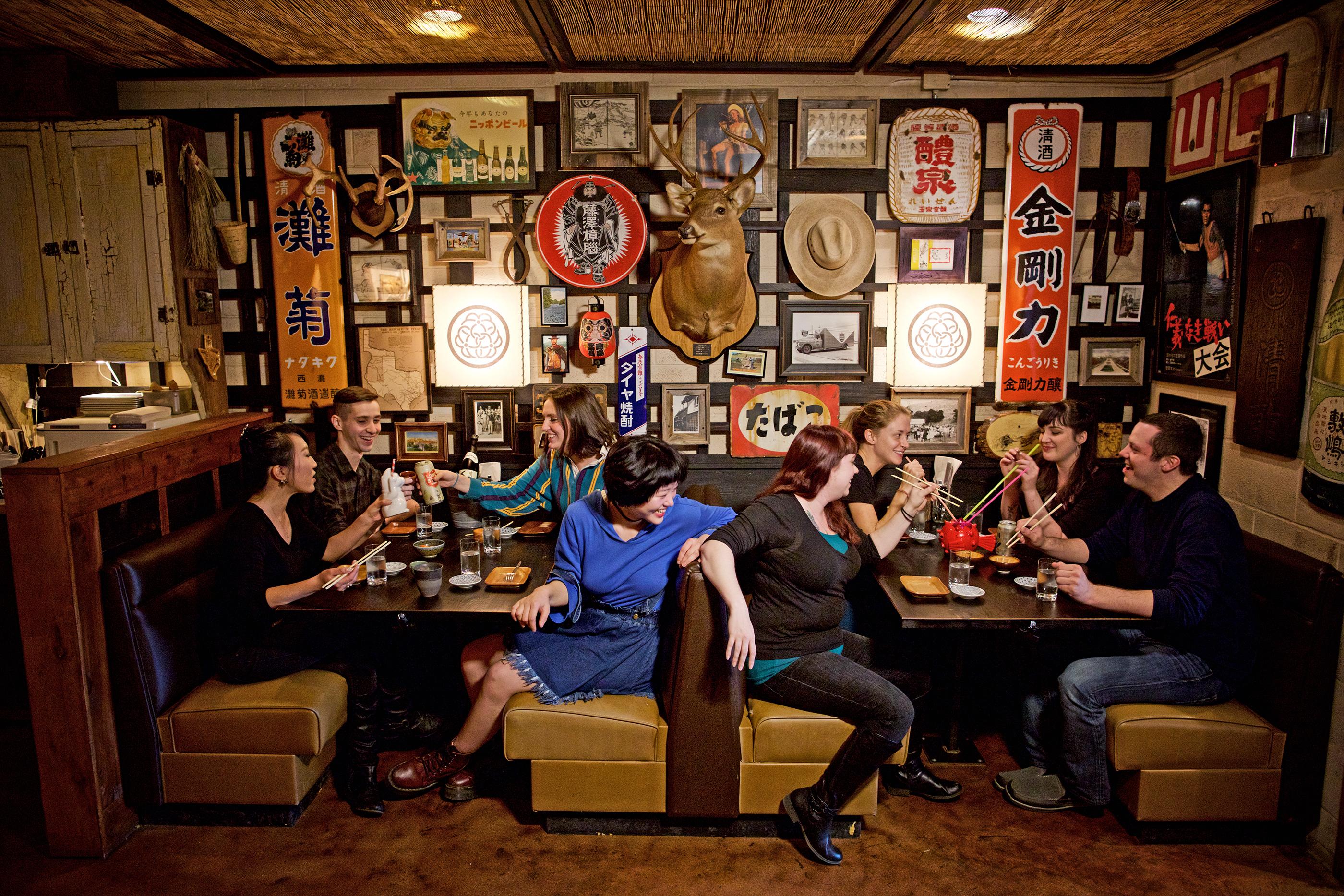 Food fans dive into ramen at the award-winning Kemuri Tatsu-ya.