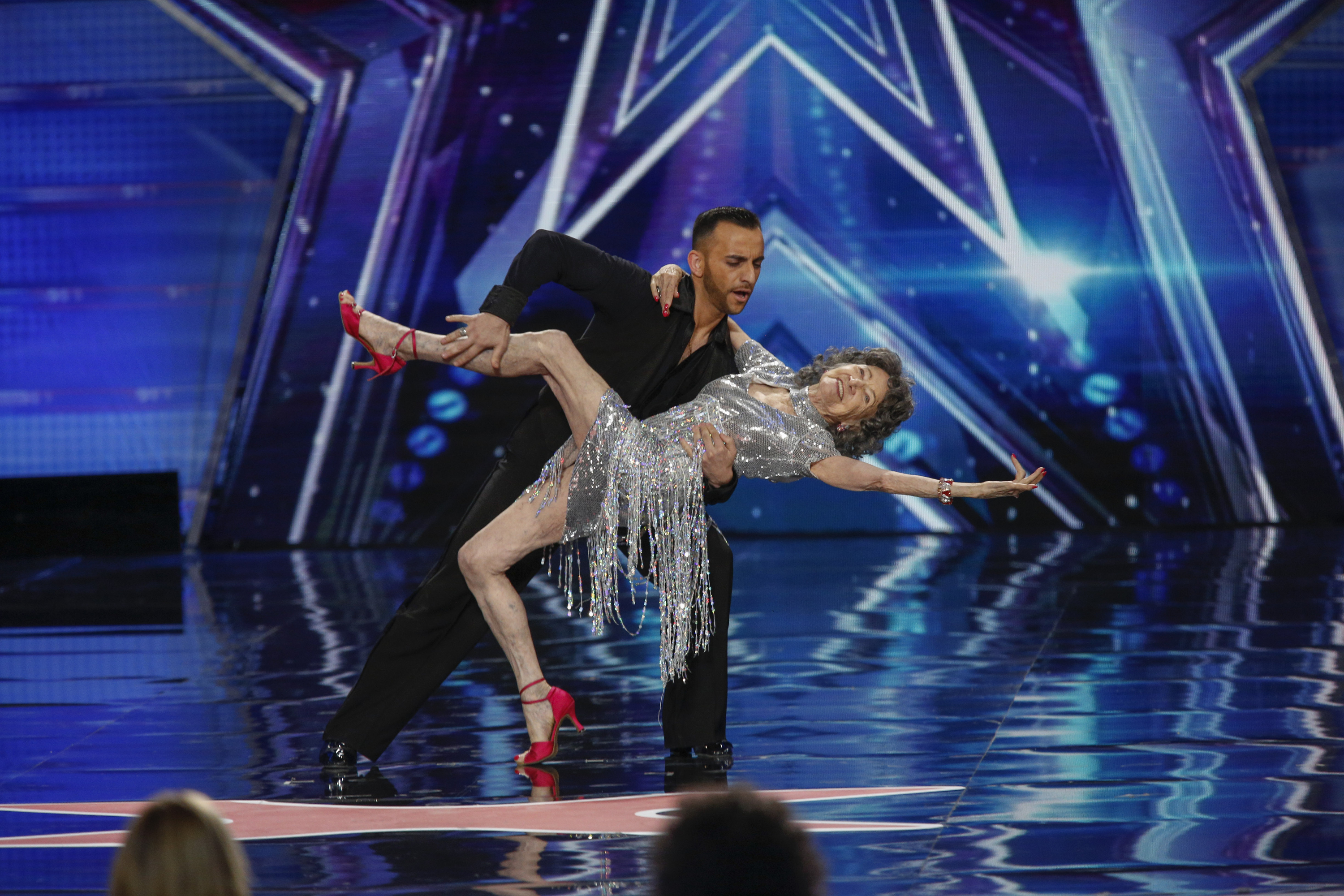 Tao Porchon-Lynch & Vard at the New Jersey Auditions for AMERICA'S GOT TALENT