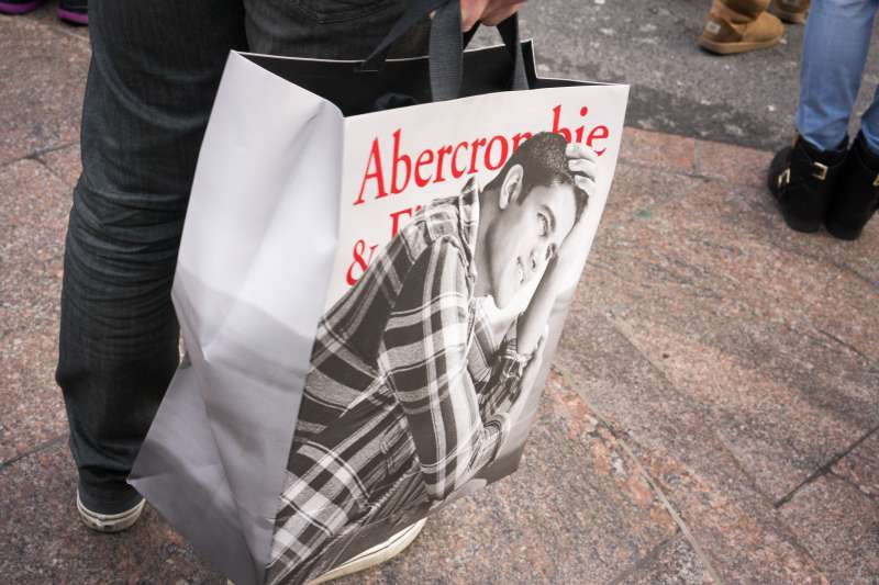 Holiday shoppers outside Abercrombie & Fitch in Herald Square in New York City.