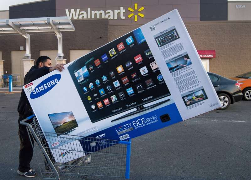 Walmart always has TV deals on Black Friday.