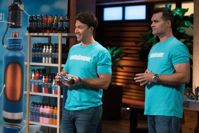 An entrepreneur from Temecula, California, presents his dual-purpose strap design to keep valuables safe and secure; cousins from El Segundo, California, believe they have the ultimate solution to keeping a beer bottle cold with their neoprene-lined, stainless steel design on  Shark Tank,  Sunday, November 25 (9:00-10:01 p.m. EST), on The ABC Television Network.
