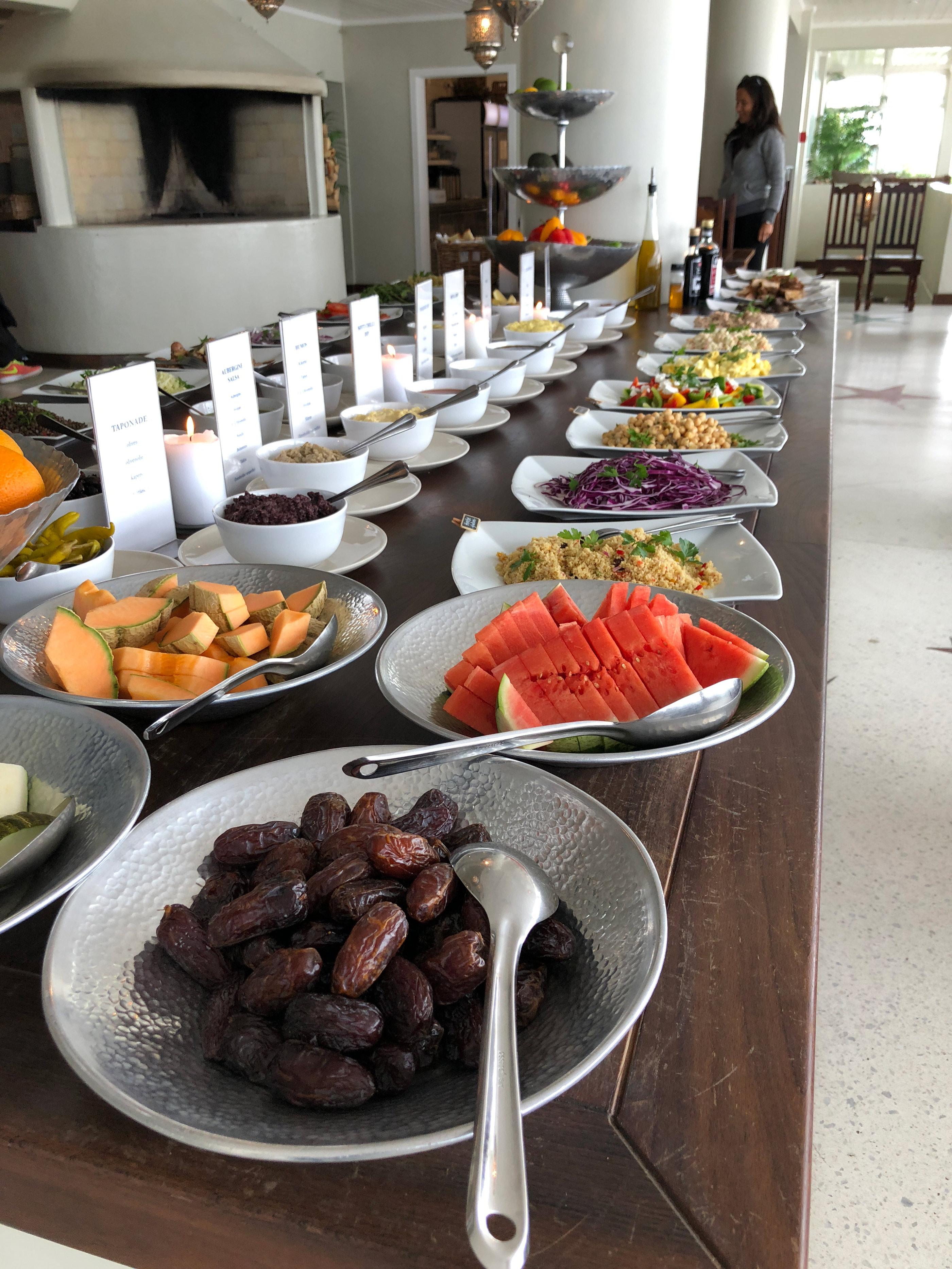 The buffet at Villa Malla Restaurant outside of Oslo