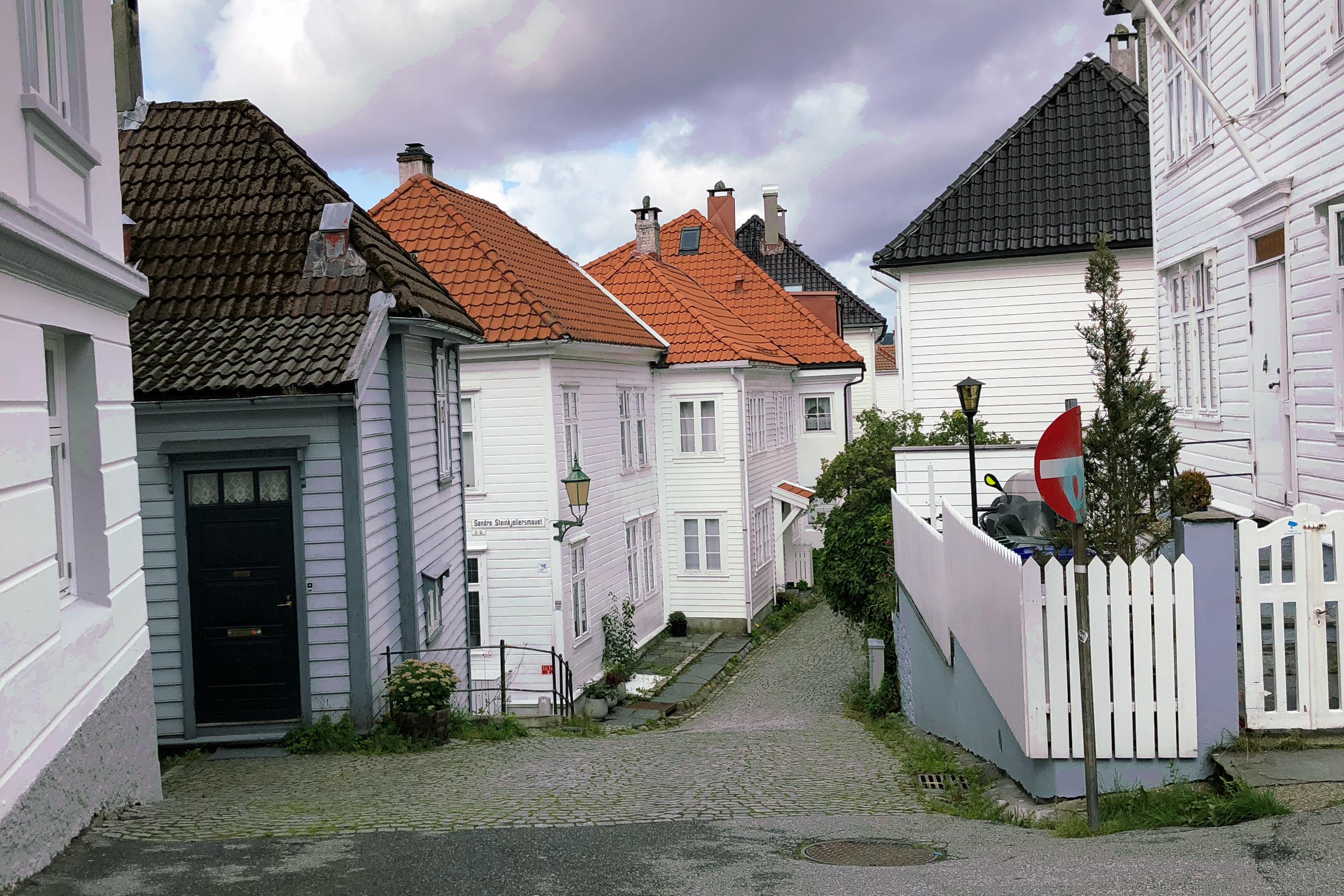 Street of homes in Bergen